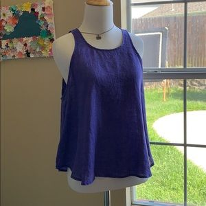 Anthropologie Maeve 100% linen tank top size small